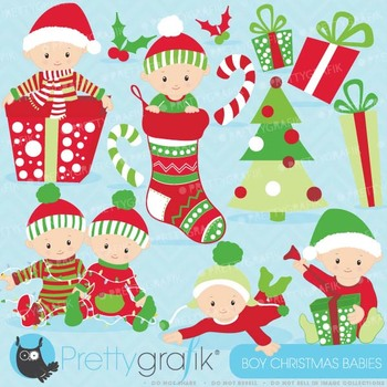 Christmas baby boy clipart commercial use,Christmas babies.