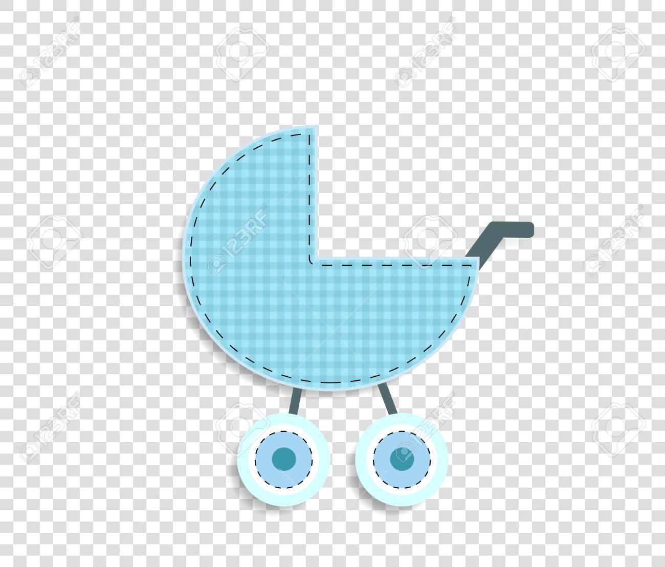 Cute baby boy vector clip art element for scrapbook or baby shower...