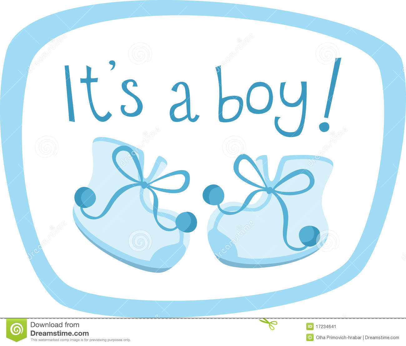 Blue Baby Boy Clipart.