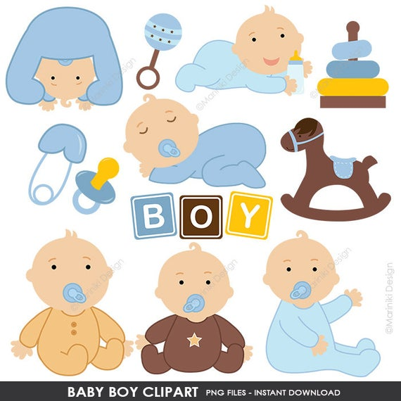 Baby Clipart, Baby Shower Clipart, Baby Boy Clip Art, Blue Baby Shower,  Stork Clipart Digital Clip Art INSTANT DOWNLOAD CLIPARTS C8.