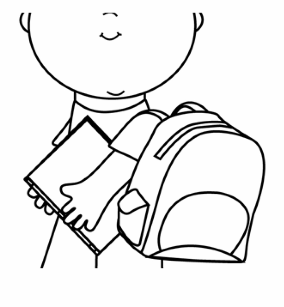Child Clipart Black And White Black And White Boy Carrying.