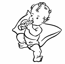 Image result for baby boy clipart black and white.