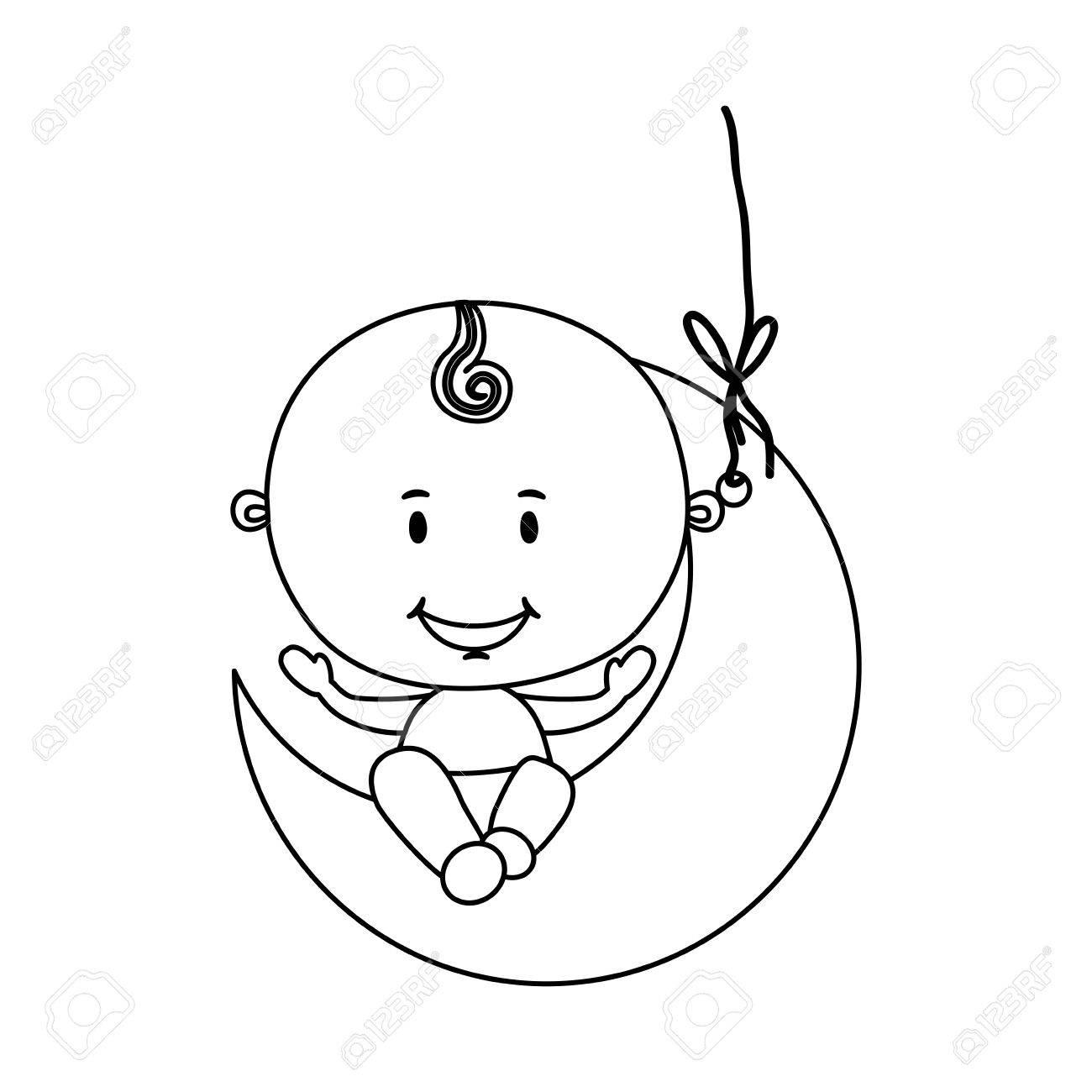 cute baby boy icon image vector illustration design.