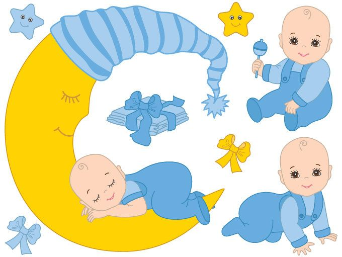 50% OFF SALE Baby Boy Clipart.