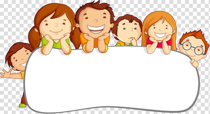 Child Cartoon Illustration, Card child children cute border.