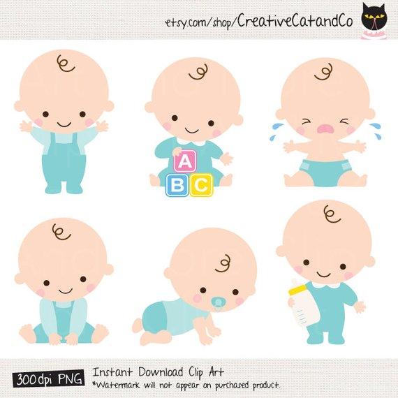 Baby Boy Clipart Baby Boy Clip Art Baby Boy Shower Clipart.