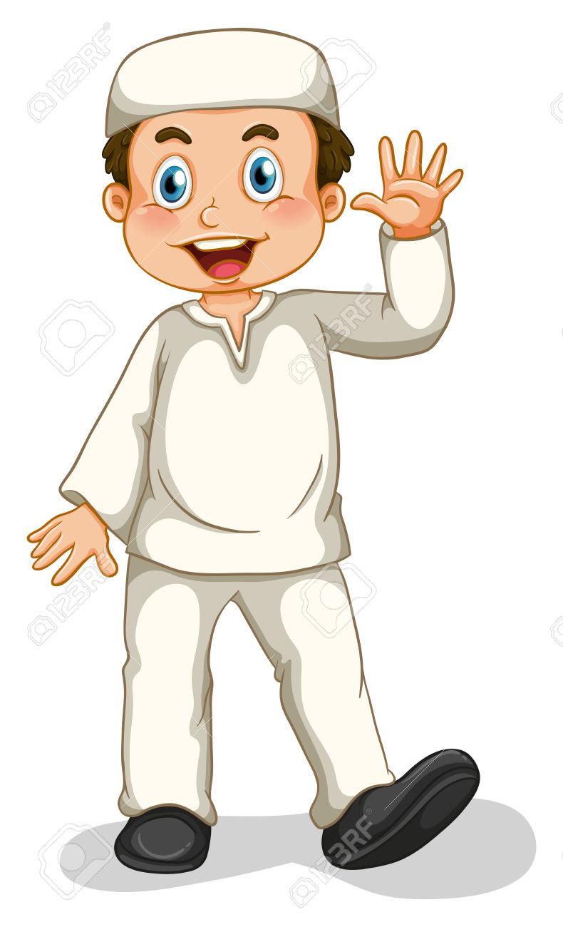 Muslim Boy Clipart.