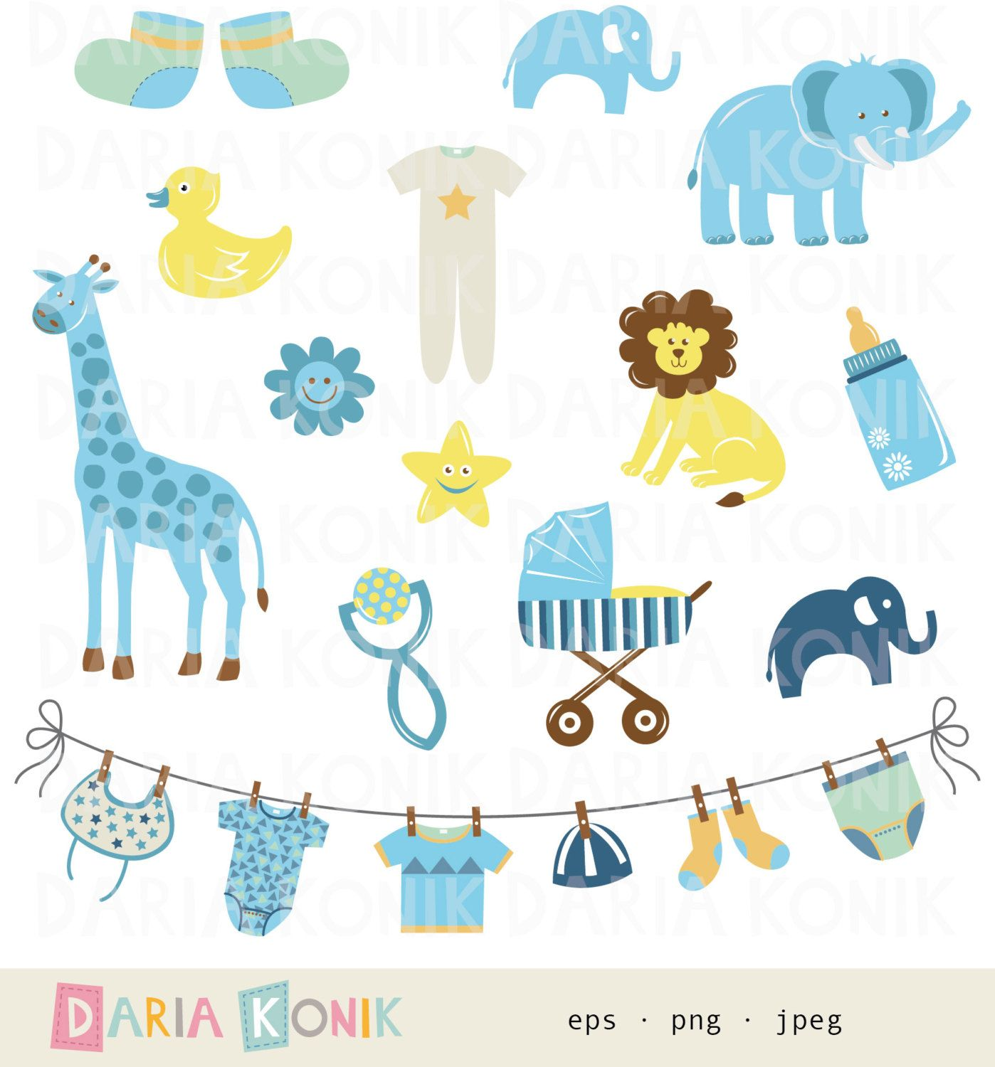 Popular items for baby boy clipart on Etsy.