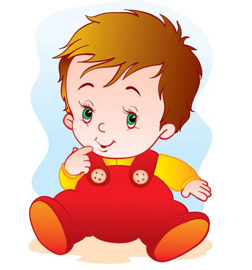 Cute Vector Baby Boy.