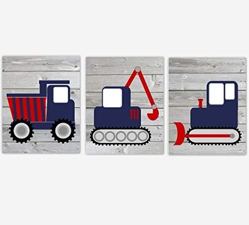 Amazon.com: Construction Truck Navy Blue Red Baby Boy.