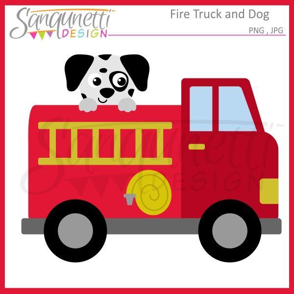Sanqunetti Design: Fire Truck Clipart.