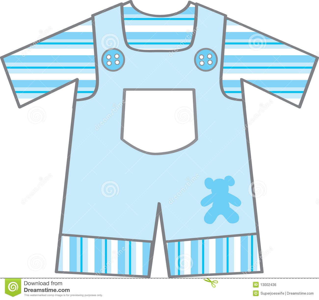 Baby Boy Dress Clipart.