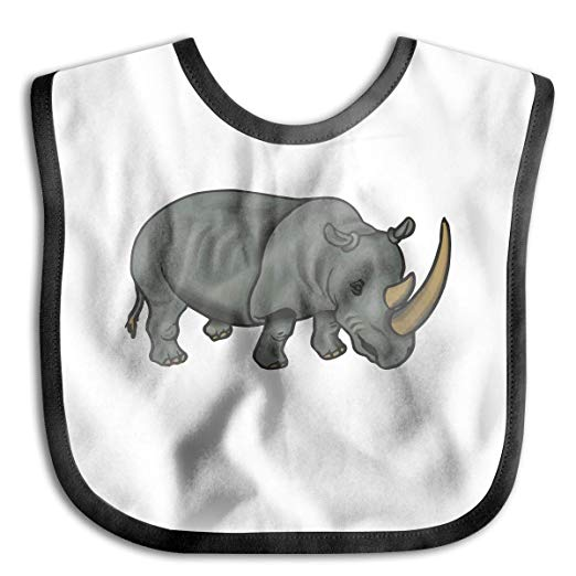 Amazon.com: Baby Bibs Rhino Clipart Drooling,Teething And.