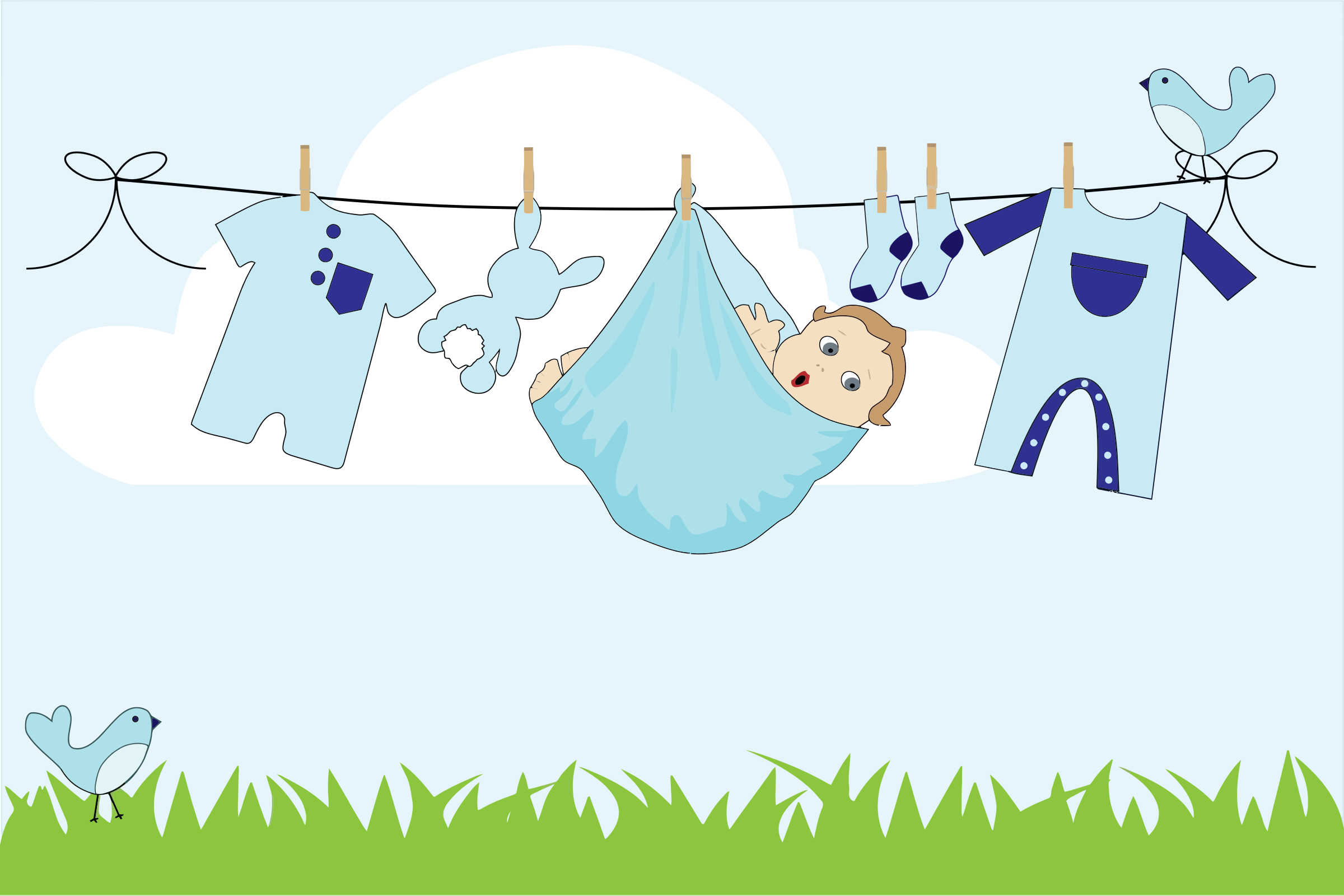 311 Clothesline free clipart.