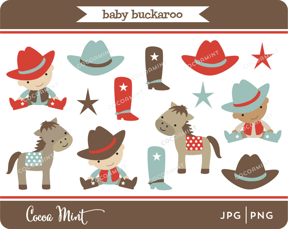 Baby Cowboy Boots Clipart.