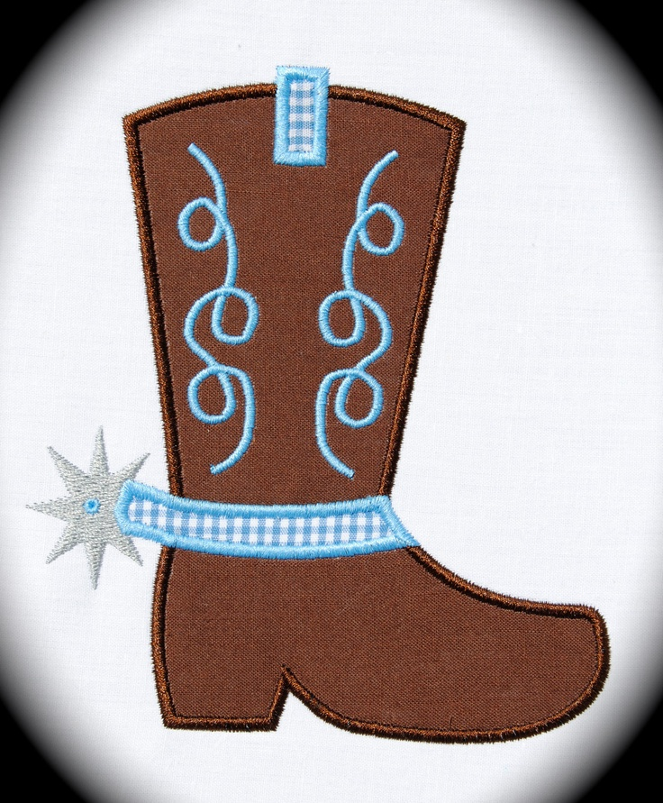 Baby Cowgirl Boots Clipart.