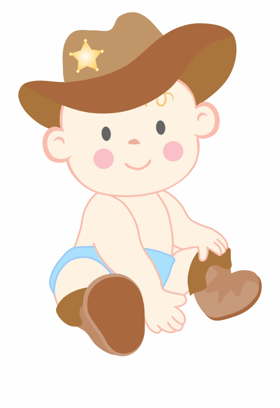 Baby Cowgirl Clipart.