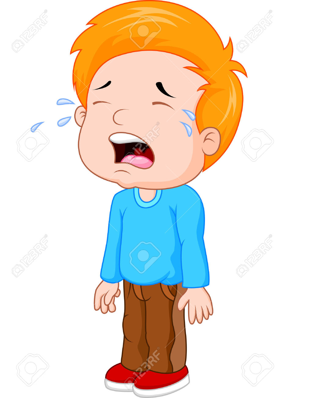 Boy Crying Clipart.