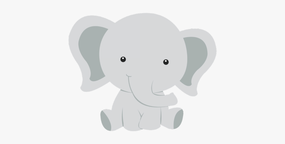 Safari Clipart Baby Elephant.