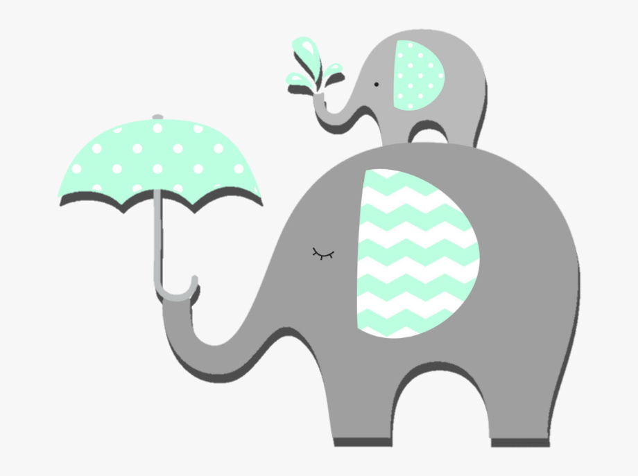 Baby Shower Elephant Clipart , Png Download.