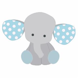 Baby Elefant Blue Image free clipart.