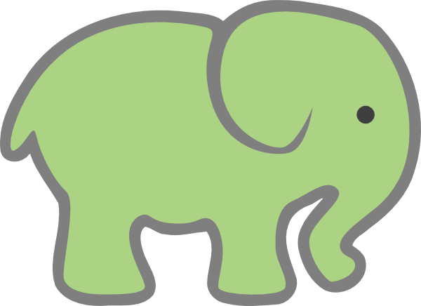 Free Green Elephant Cliparts, Download Free Clip Art, Free.