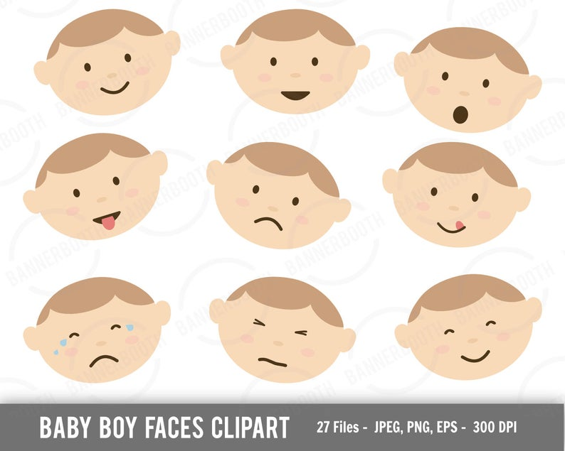 baby boy clipart, baby face clipart, happy baby clipart, face clipart, baby  face digital art, cute baby boy clipart, cute baby clipart, baby.