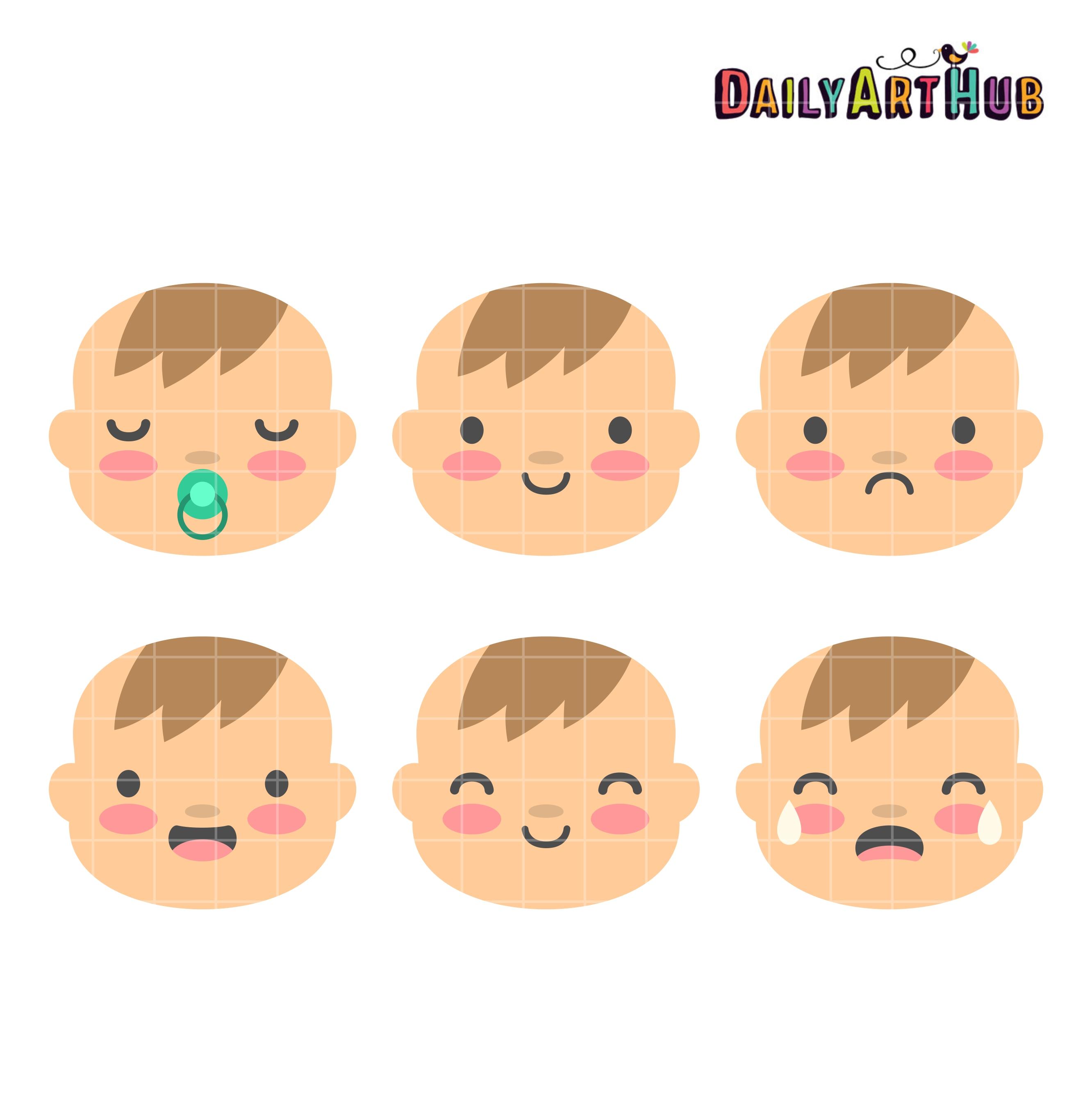 Baby Boy Face Clipart.