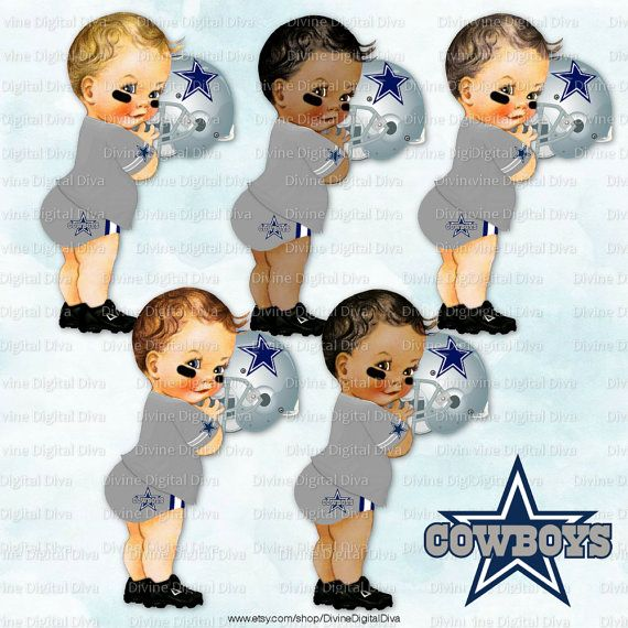 Little Prince Dallas Cowboys Football Vintage Baby Clipart by.