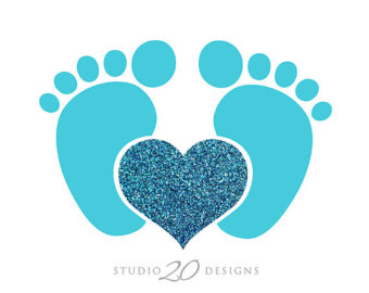Popular items for baby boy footprints on Etsy.