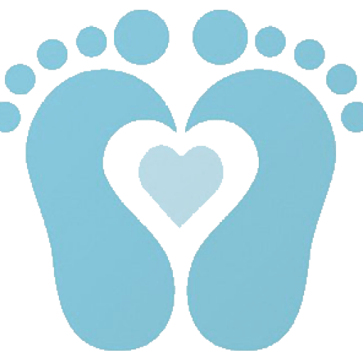 Baby Boy Footprint Clipart.