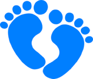 Details about 48 CUTE BABY BOY FOOTPRINT SHOWER!! STICKER LABEL ENVELOPE  SEALS 1.2\
