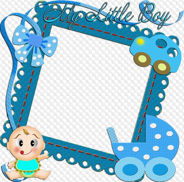 My Little Boy, baby boy free photo frame. Transparent PNG.