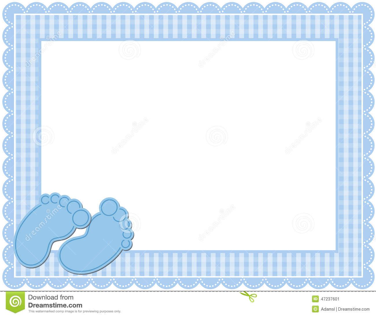 Baby Boy Frame Clipart.