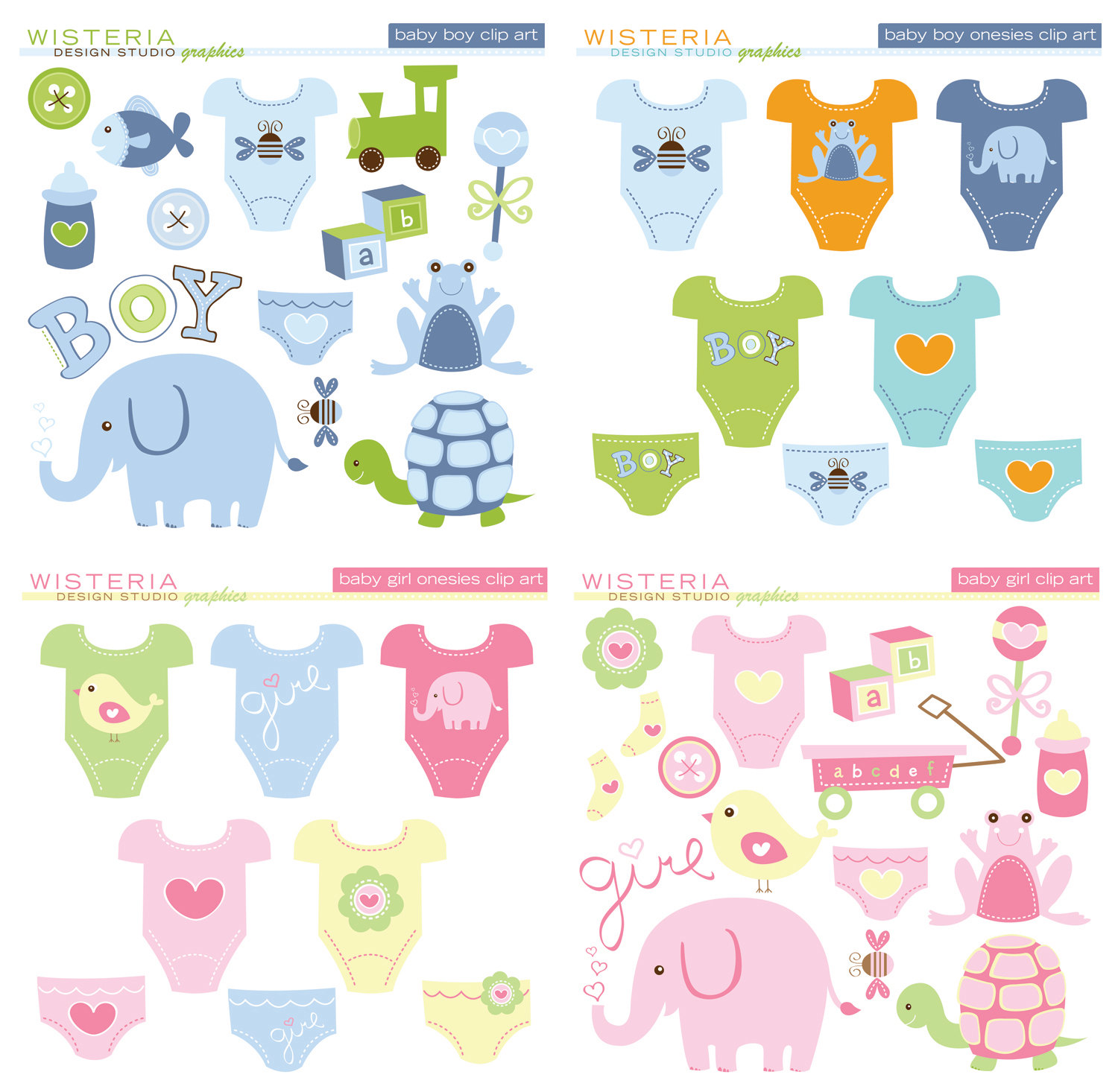 Boy baby gifts clipart.