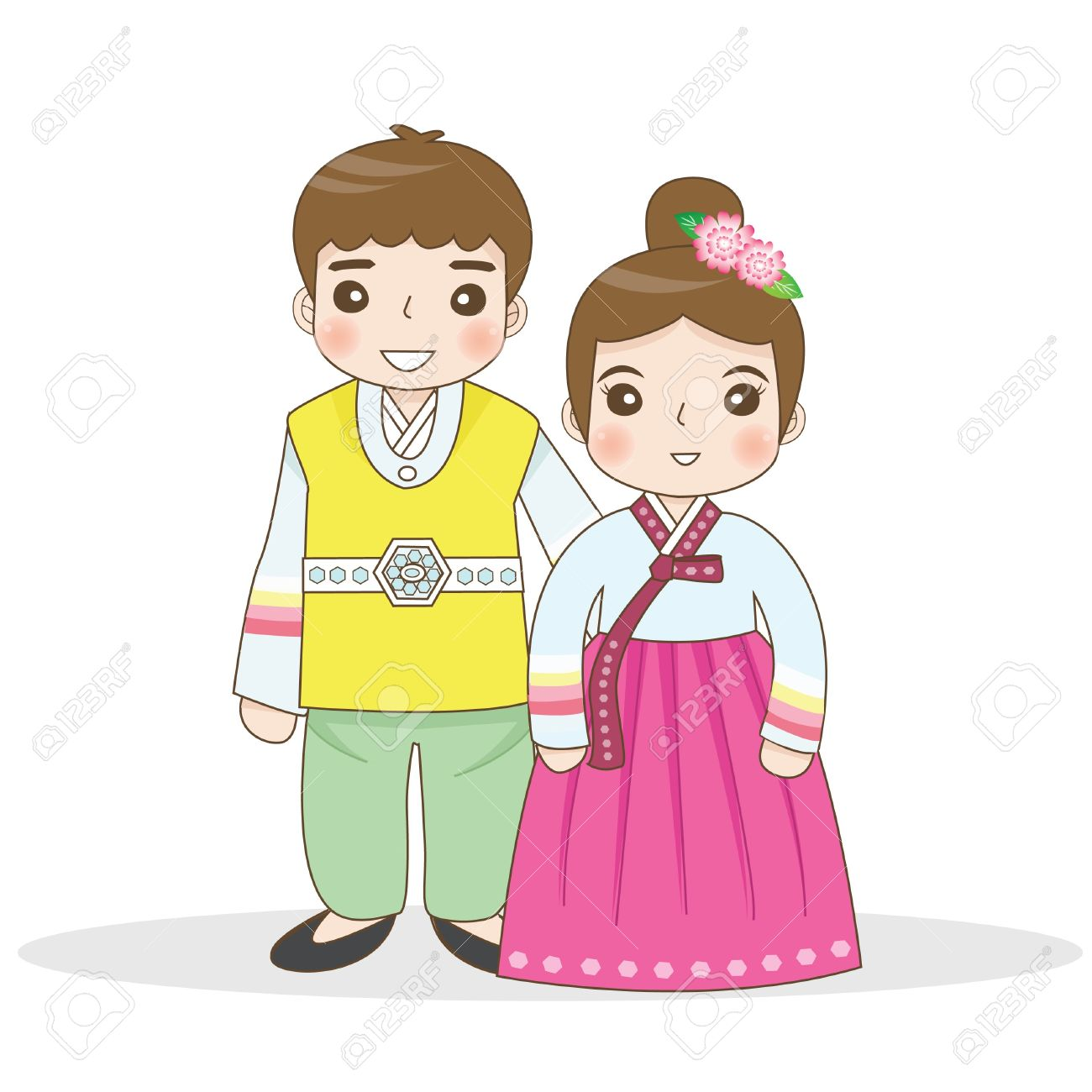 Korean Traditional Dress Clipart.