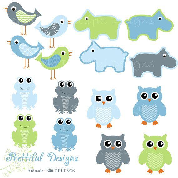 Owl Clip Art Hippo Clip Art Frog Clipart Bird Clip Art Baby.