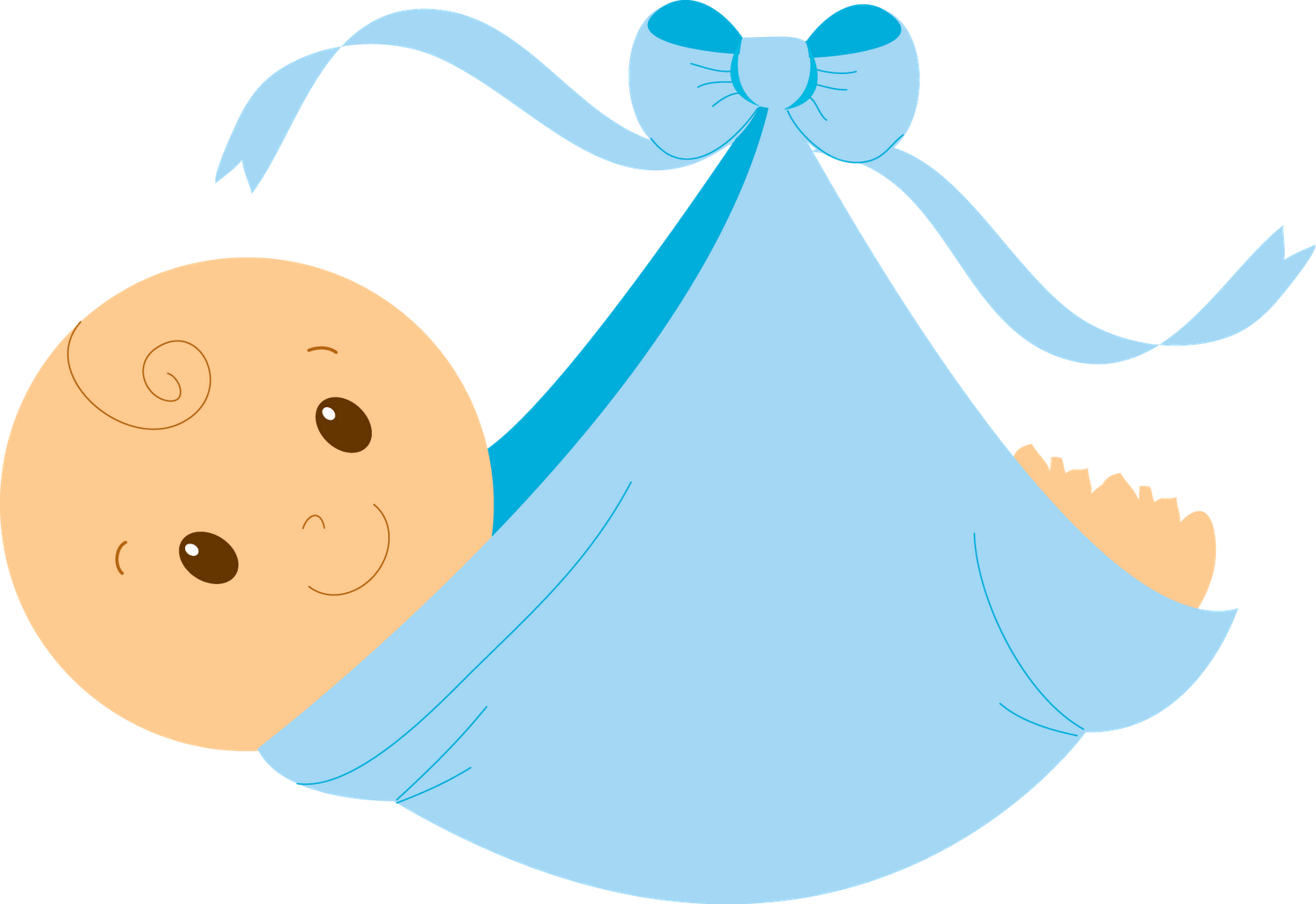 Baby boy icons clipart.
