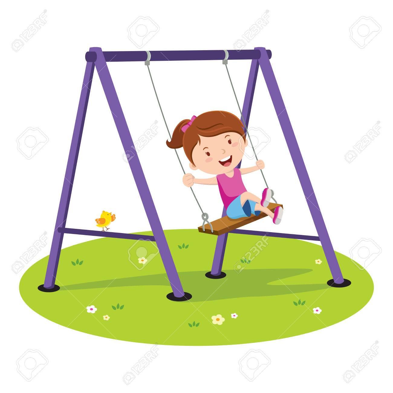 Girl Swing Clipart.