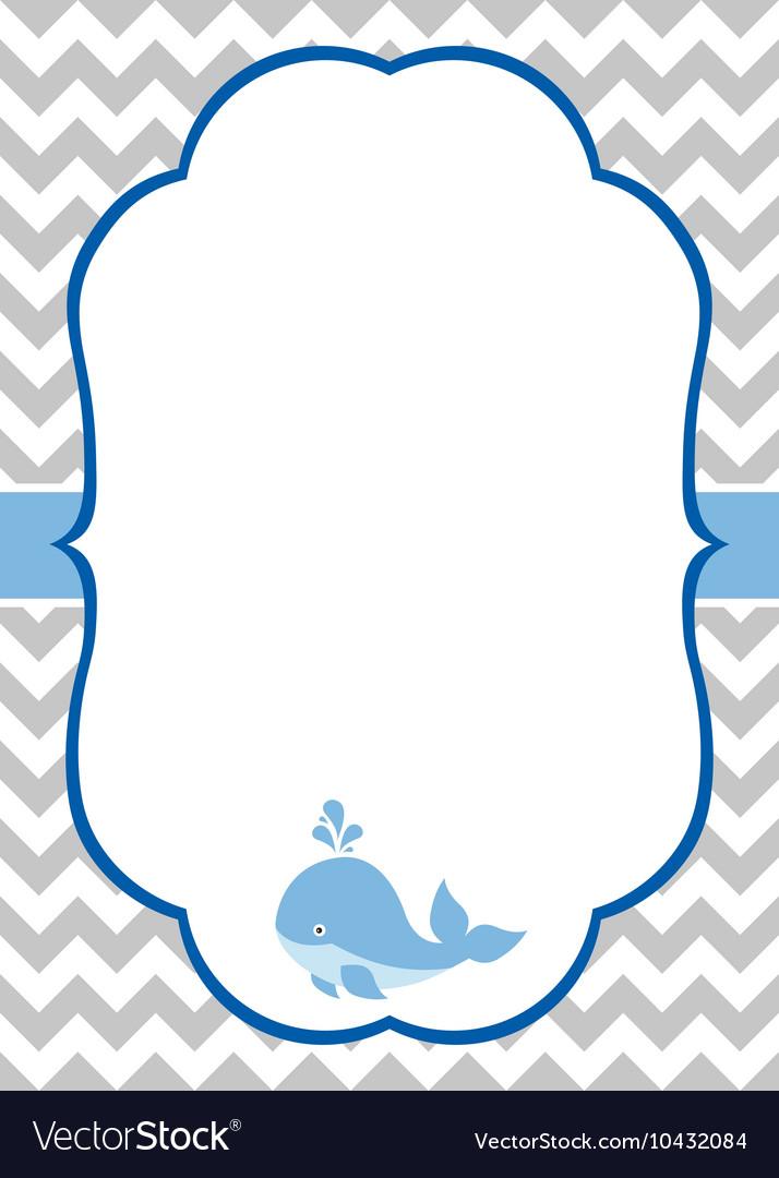 Baby Boy Invitation Card.