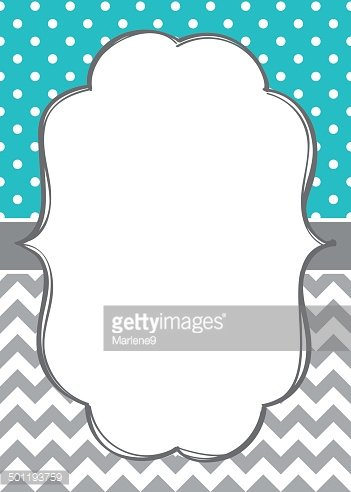 Baby boy invitation card template Clipart Image.