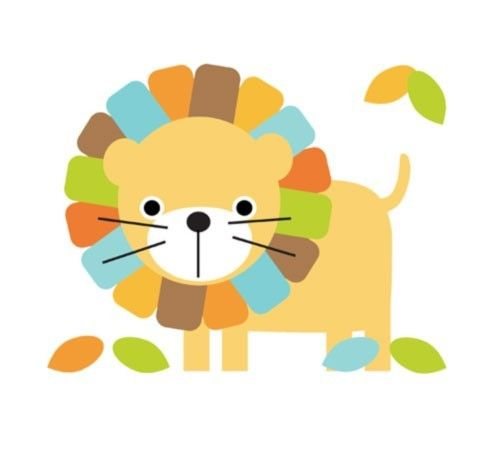 Baby boy lion clipart.