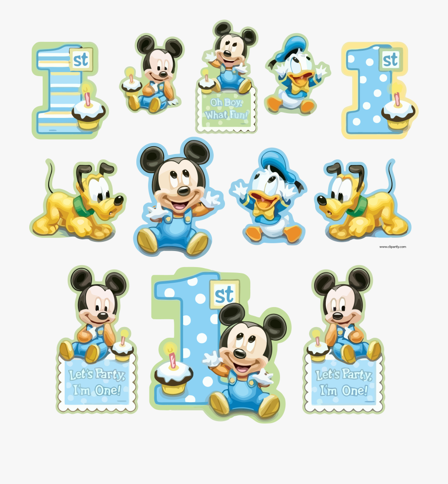 All Sticker Sample Mickey And Friends Baby Clipart.