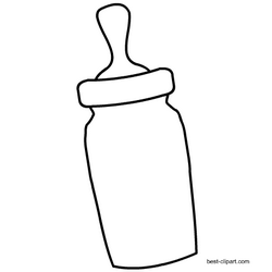 Black and white milk bottle clipart.