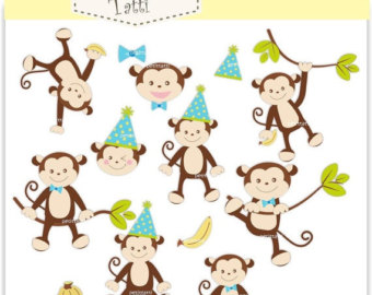 Baby monkey clipart.