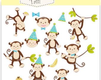 Baby monkey clipart.