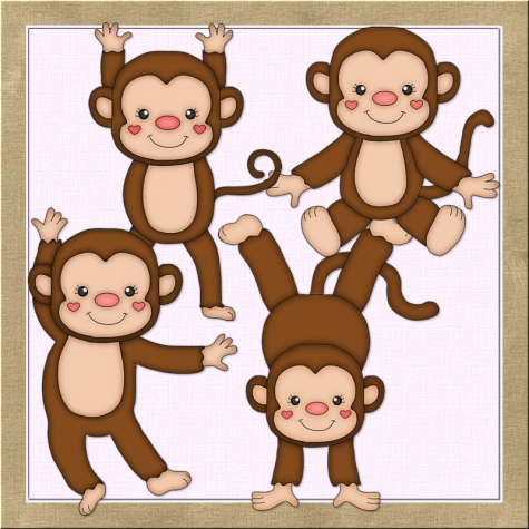 Boy Monkey Clipart.