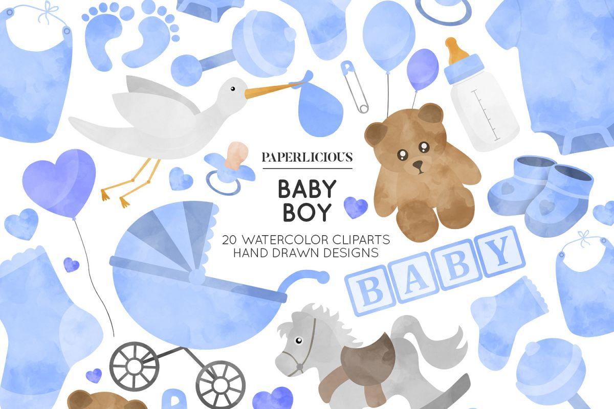 Baby Boy Nursery Cliparts.
