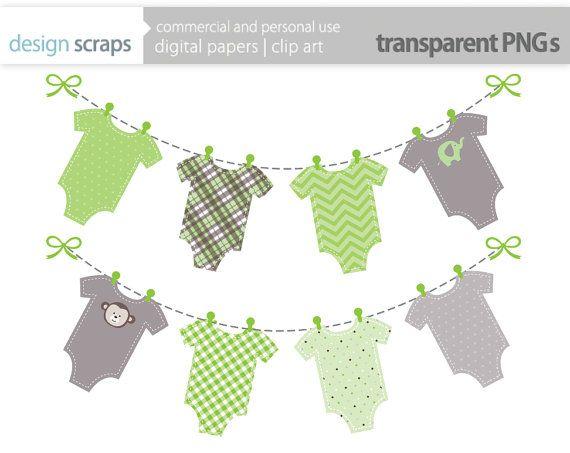baby onesie banner clip art graphics green onesies by.