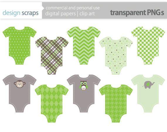baby onesie clip art graphics green onesies by designscraps.